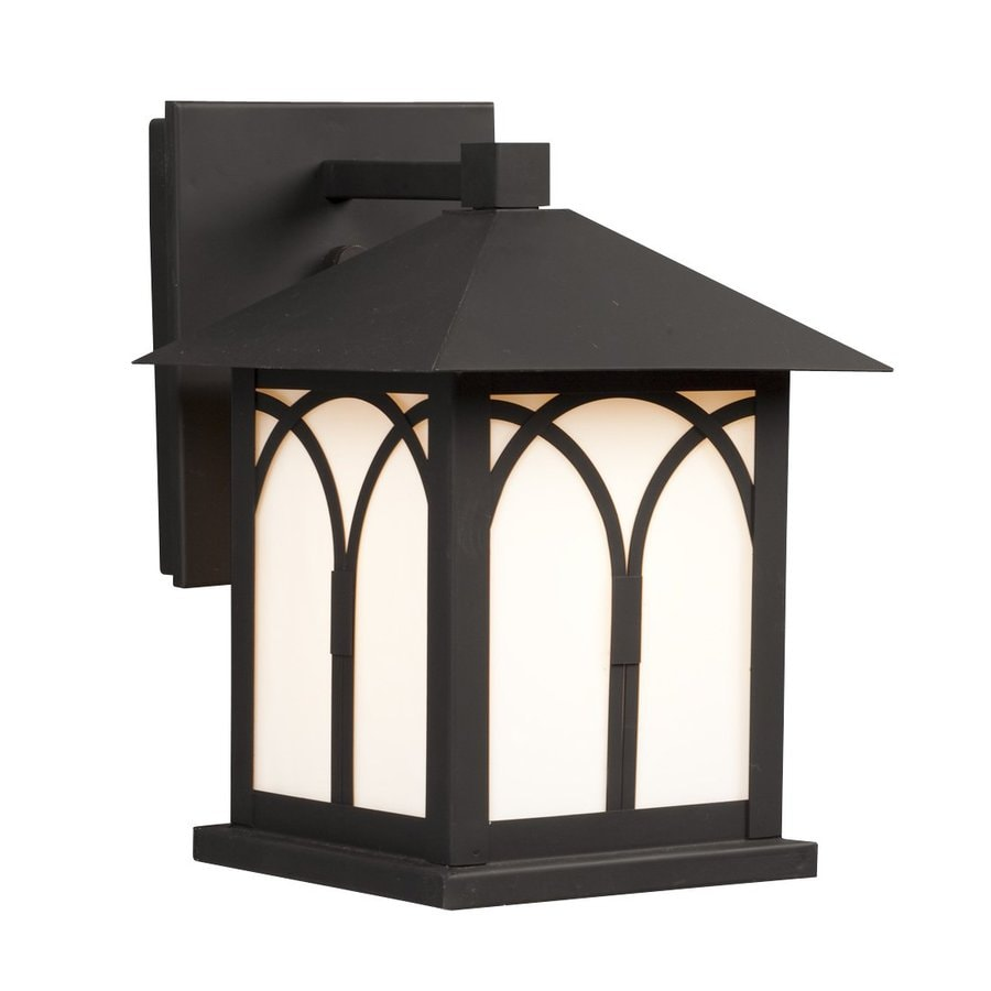 Galaxy 9.375-in H Black Outdoor Wall Light