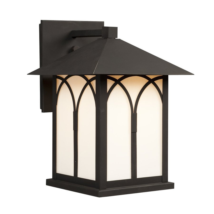 Galaxy 11.5-in H Black  Medium Base (E-26) Outdoor Wall Light