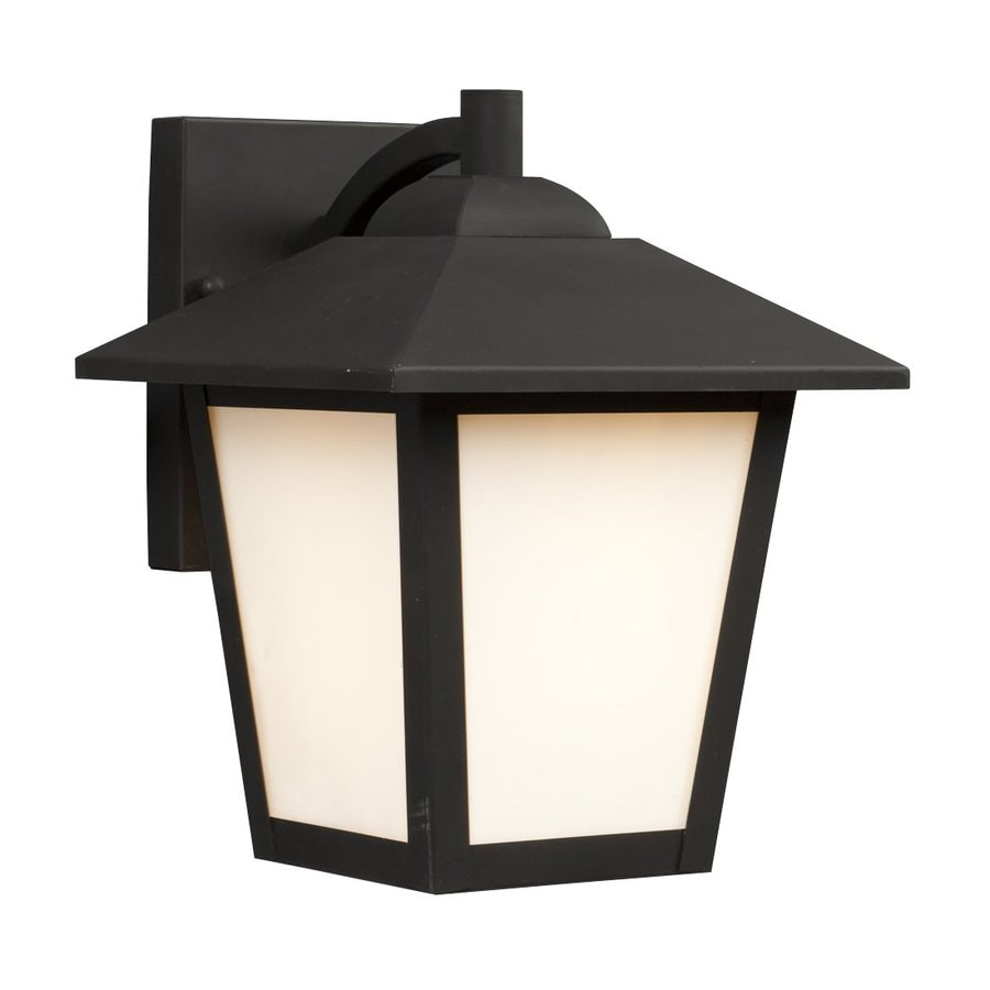 Galaxy 9.125-in H Black Outdoor Wall Light