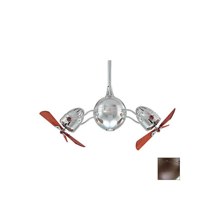 Matthews 48-in Textured Bronze Ceiling Fan Downrod