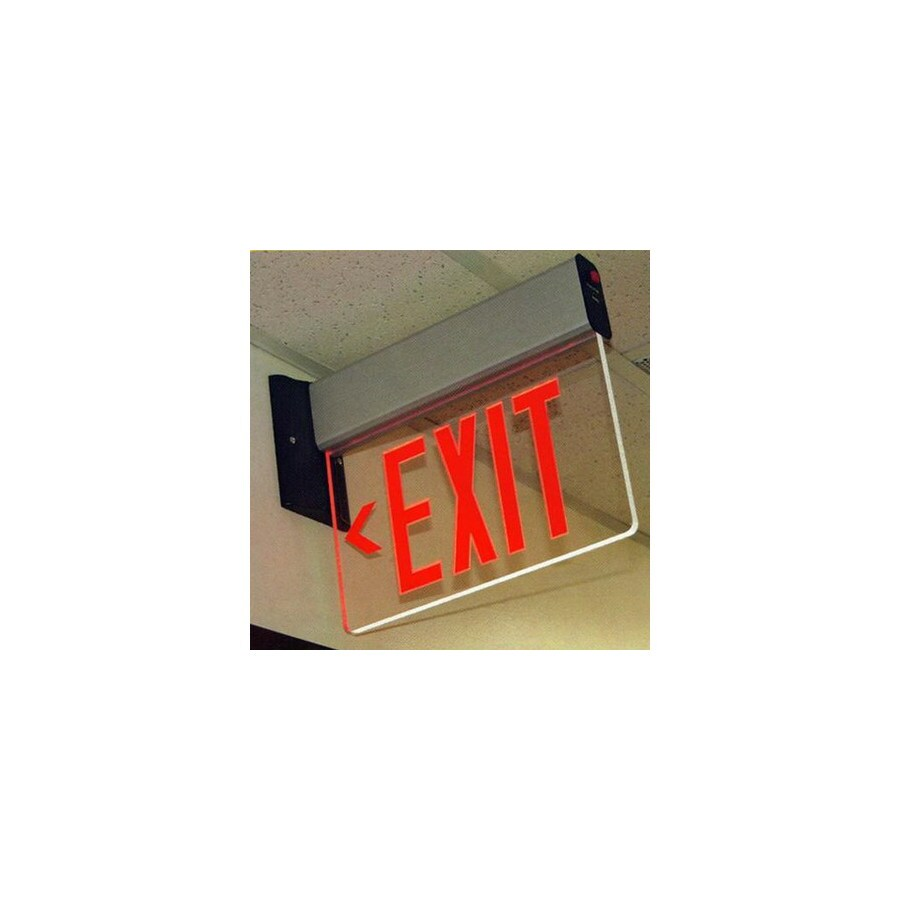 Morris Products Red LED Hardwired Exit Light