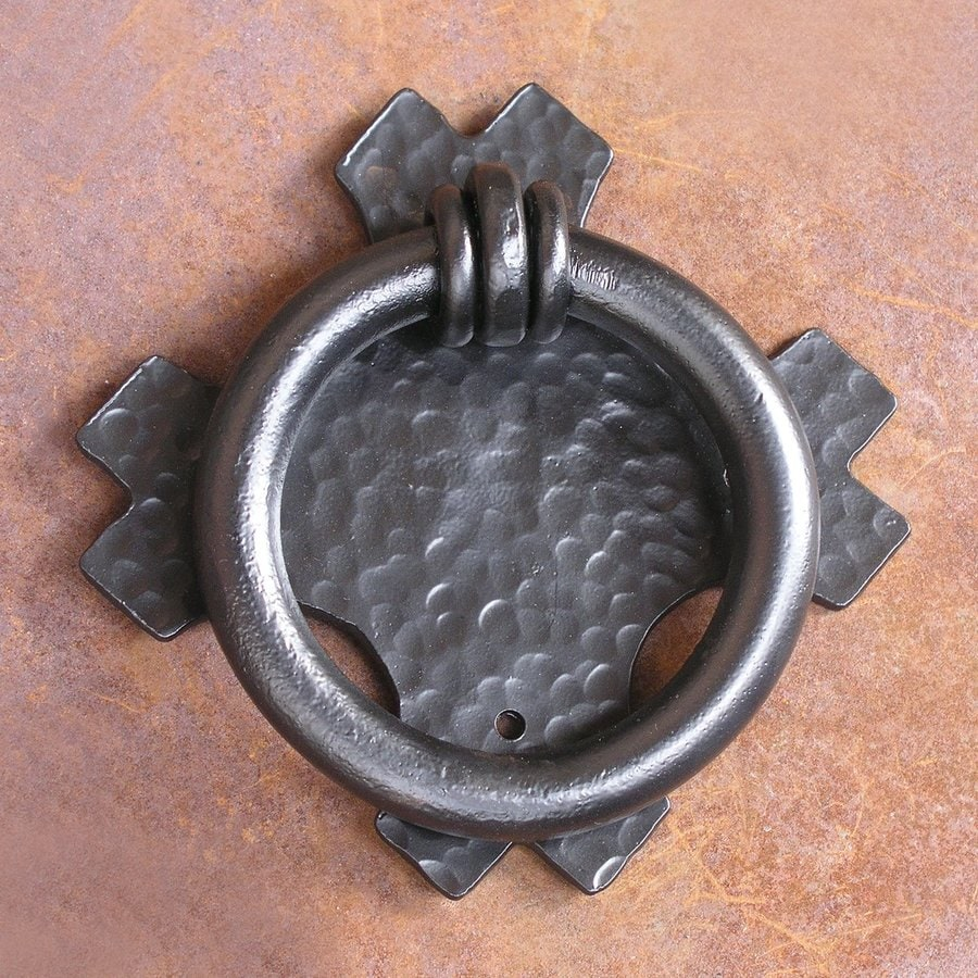 Artesano Iron Works 7.37-in Black Entry Door Knocker