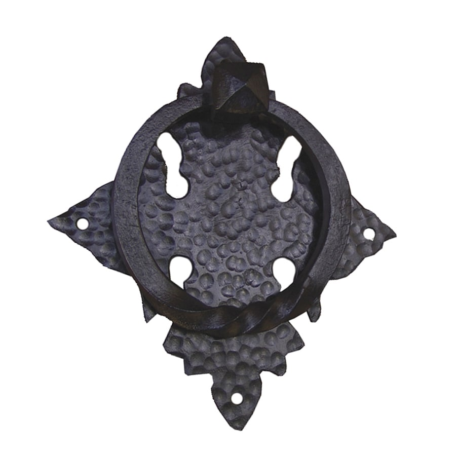 Artesano Iron Works 8-1/16-in Black Entry Door Knocker