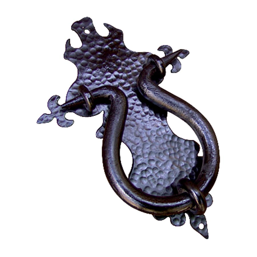 Artesano Iron Works 10.5-in Black Entry Door Knocker