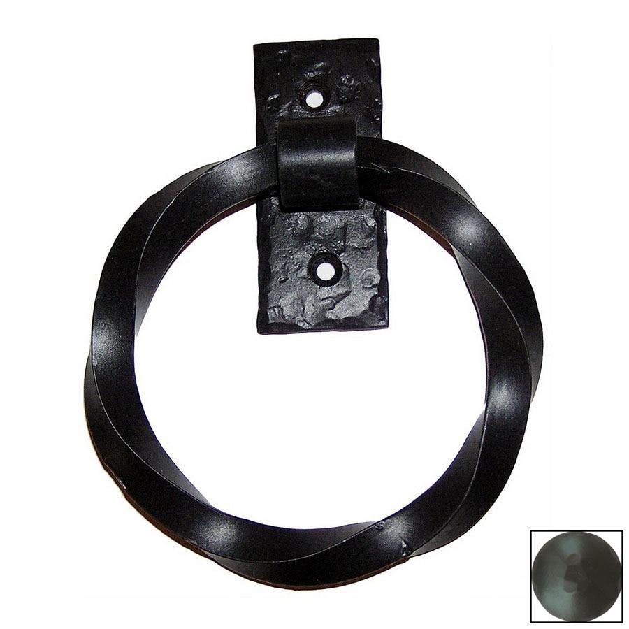 Agave Ironworks 5-1/2-in Black Entry Door Knocker