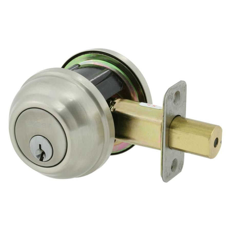 The Delaney Company Solid Brass Satin Nickel Single-Cylinder Deadbolt