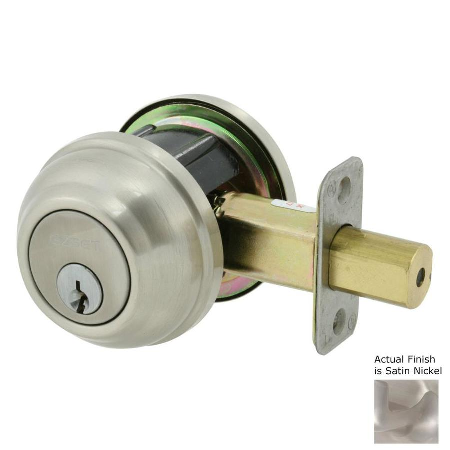 The Delaney Company Solid Brass Satin Nickel Double-Cylinder Deadbolt