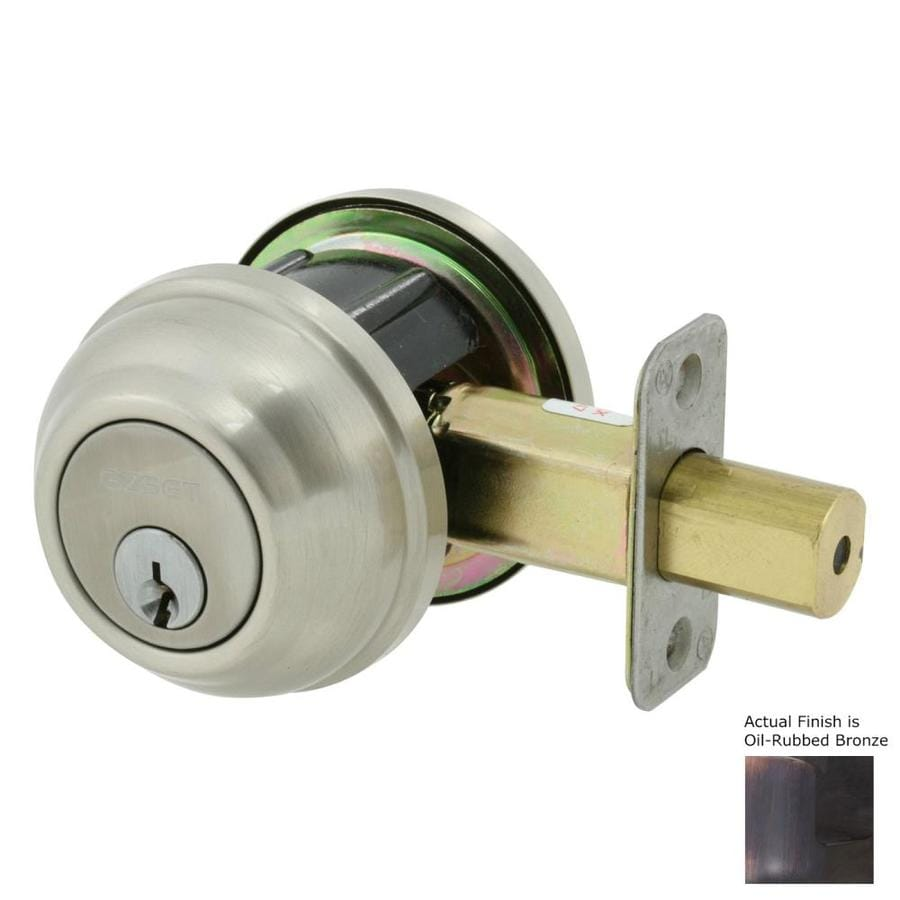 The Delaney Company Solid Brass Oil-Rubbed Bronze Double-Cylinder Deadbolt