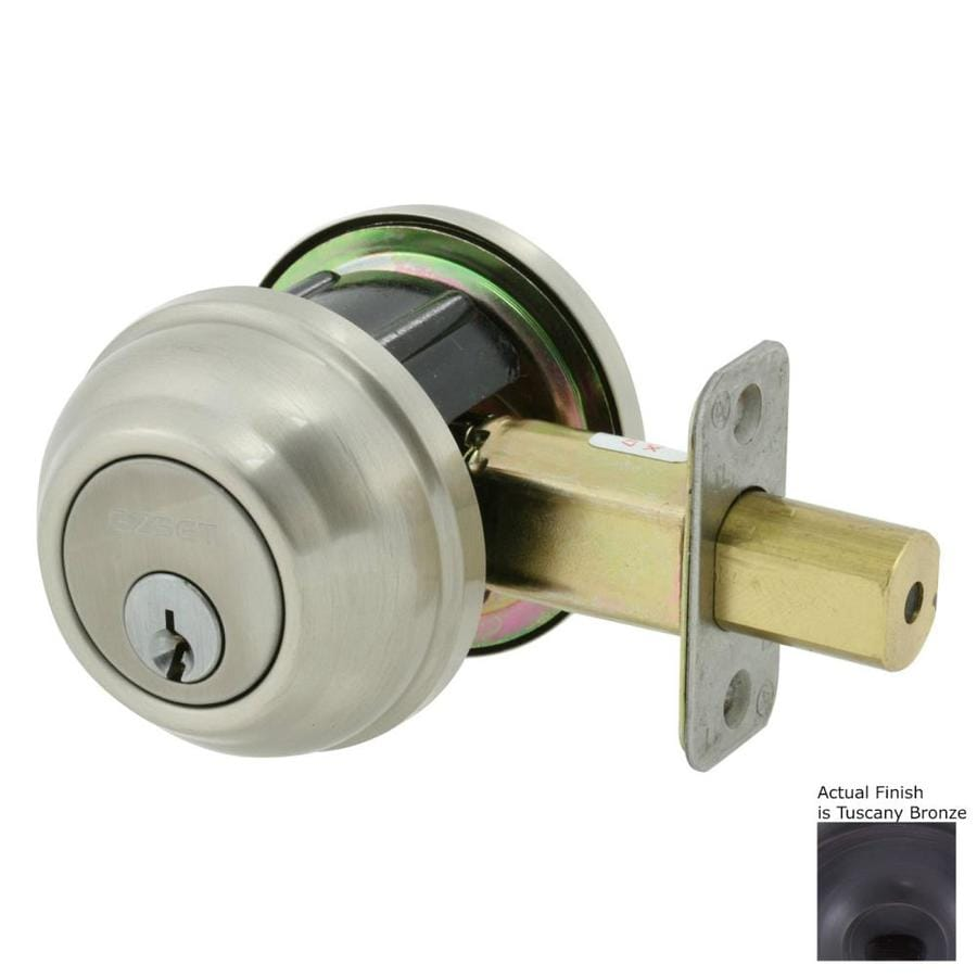 The Delaney Company Solid Brass Tuscany Bronze Double-Cylinder Deadbolt