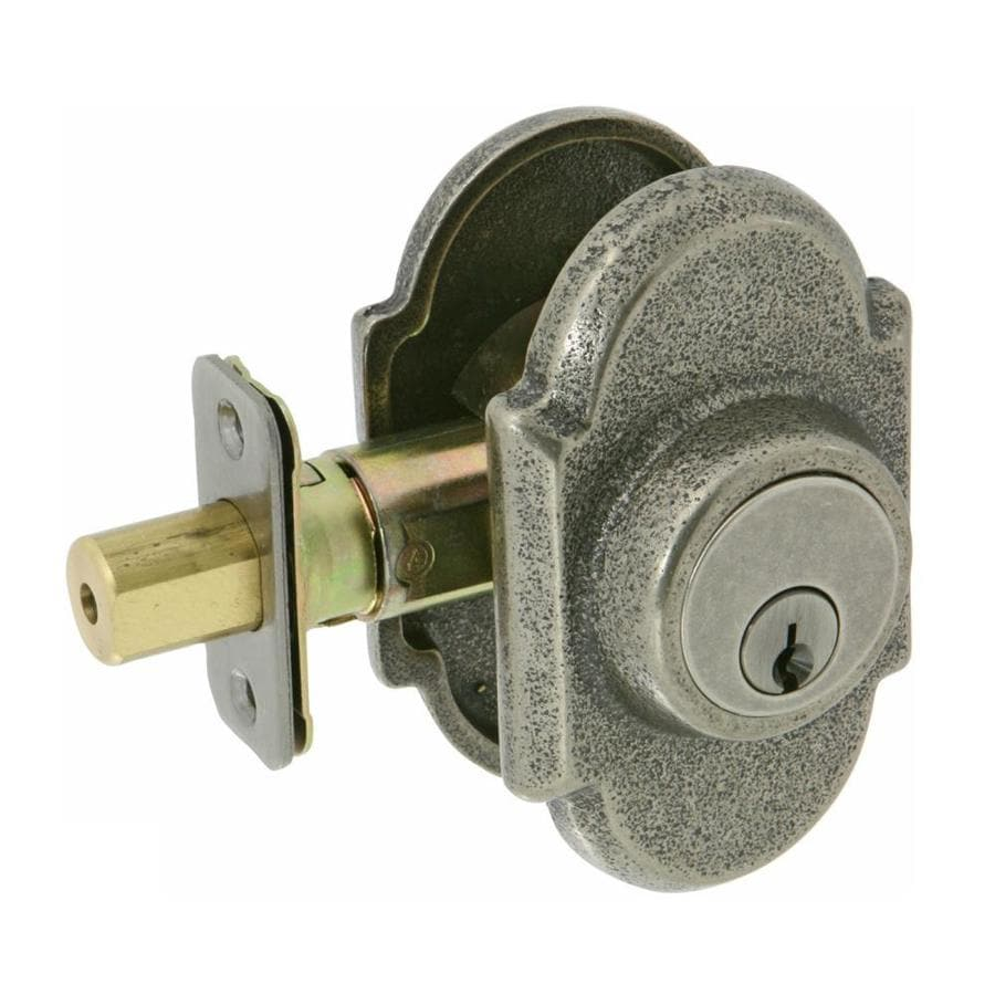 The Delaney Company Sandcast Aged Pewter Double-Cylinder Deadbolt