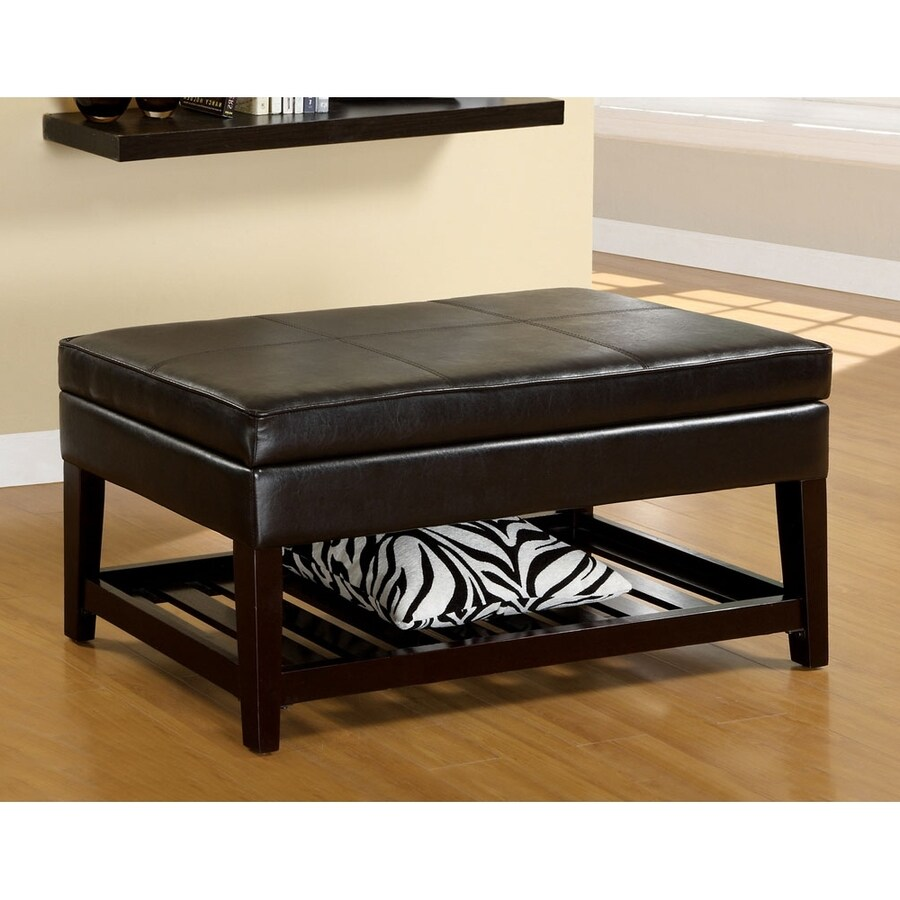 Furniture of America Ramona Espresso Indoor Storage Bench
