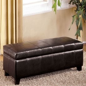 Furniture Of America Luton Casual Espresso Storage Bench