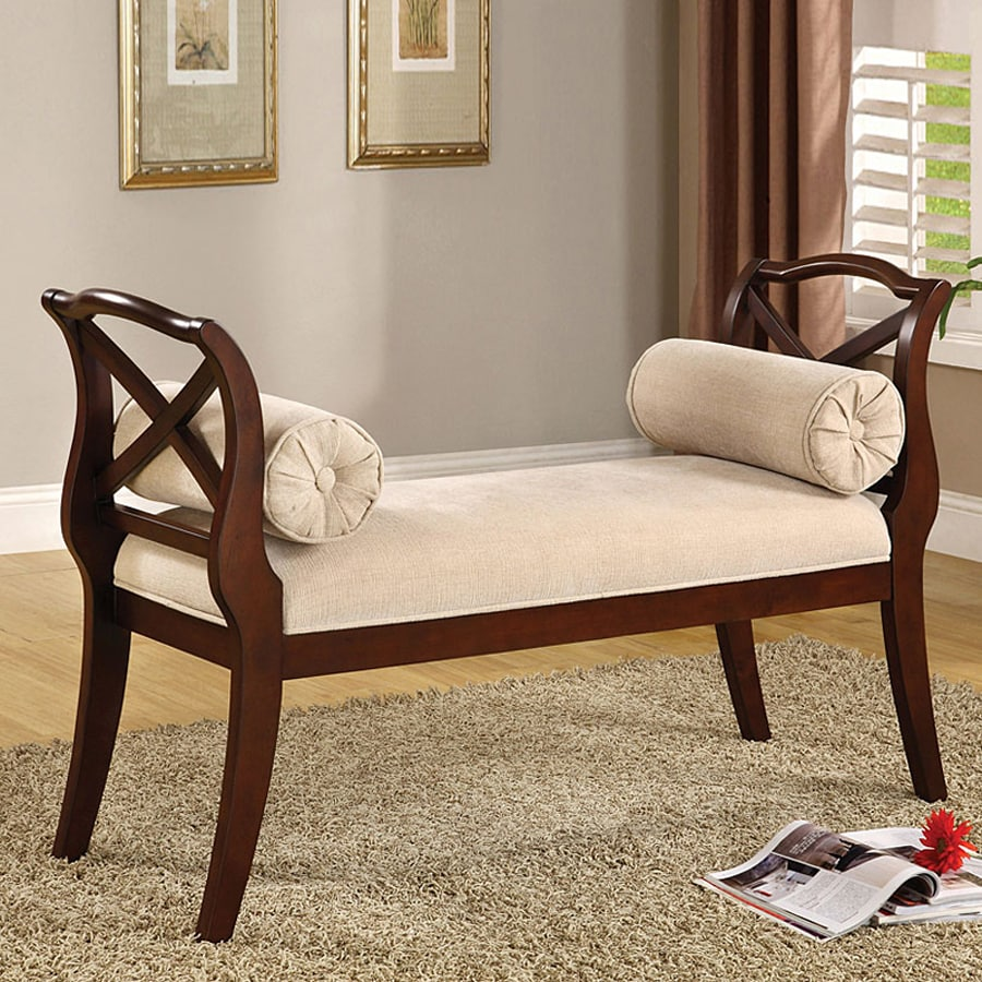 Furniture of America Philipsberg Traditional Dark Cherry Accent Bench