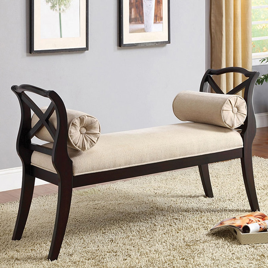 Furniture of America Philipsberg Traditional Espresso Accent Bench