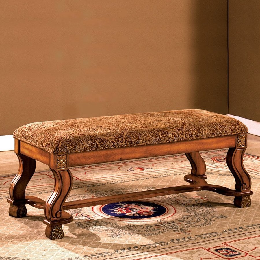Furniture of America Vale Royal Antique Oak Indoor Accent Bench