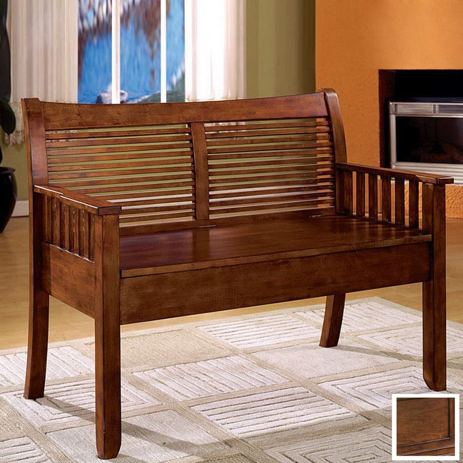 Indoor Foyer Bench : Shop furniture of america solimar dark oak indoor entryway