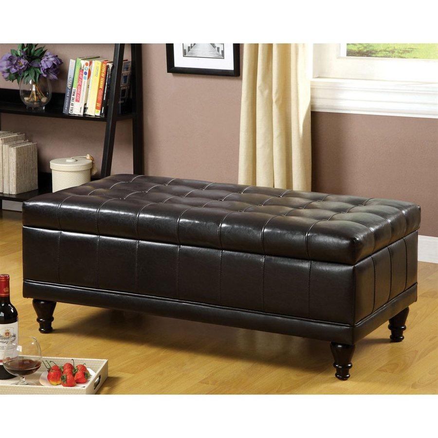 Furniture of America Randel Espresso Indoor Storage Bench