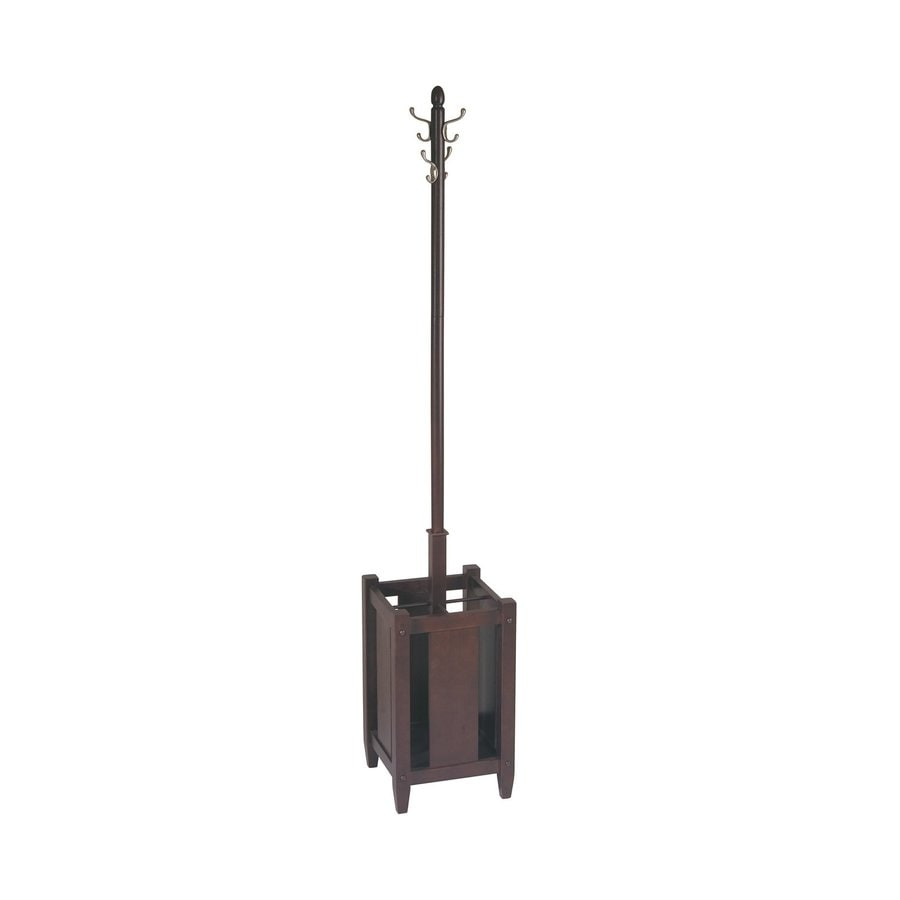 Office Star OSP Designs Espresso 8-Hook Coat Stand