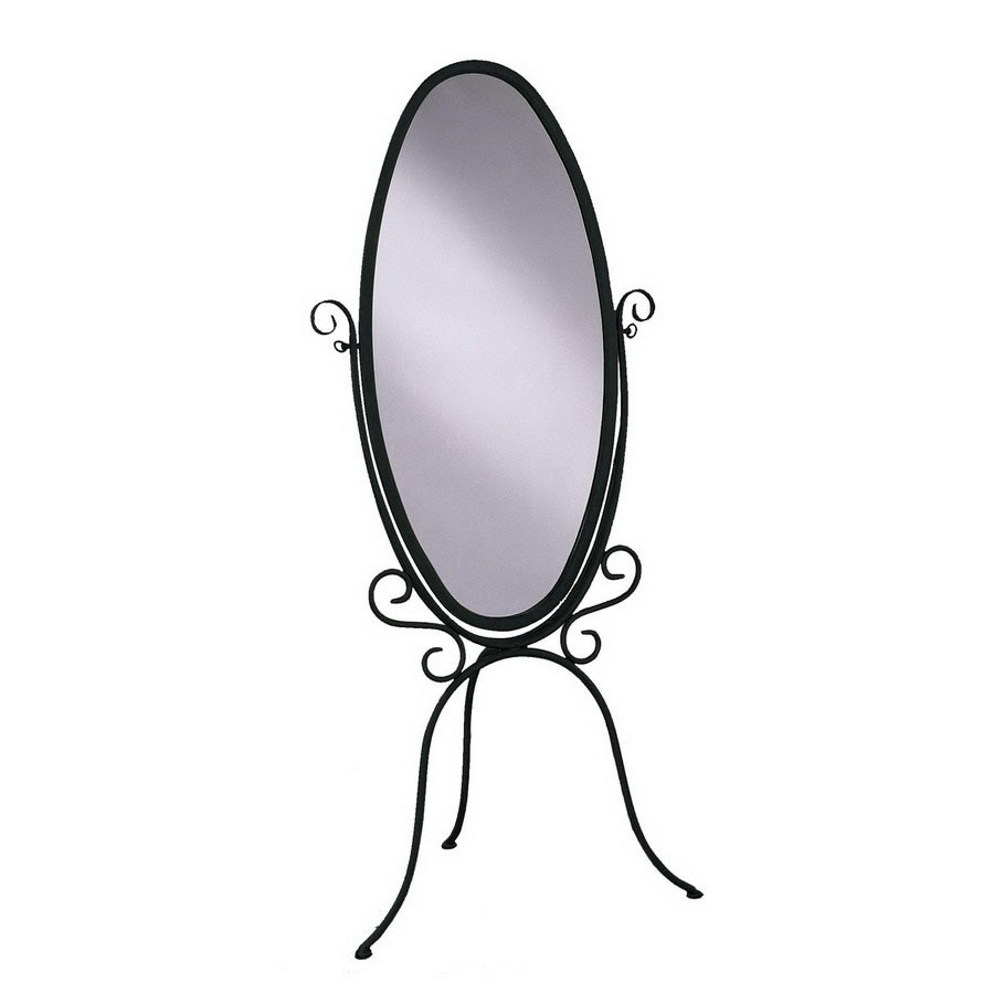 Shop Powell 60.25-in x 27-in Oval Floor Standing Mirror at Lowes.com