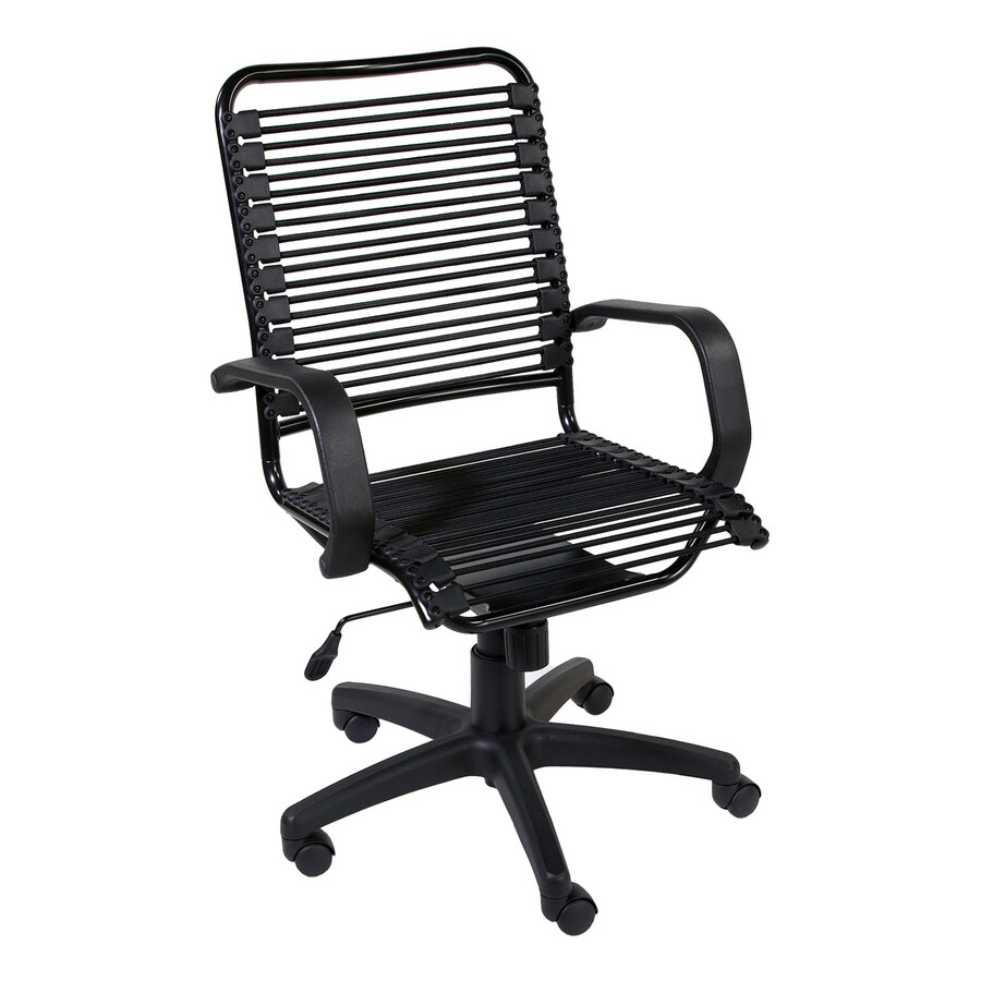 Eurostyle Bradley Bungie Graphite Black Contemporary Task Chair