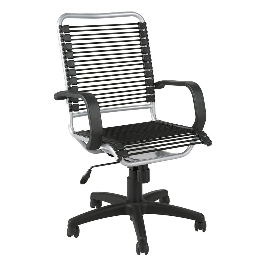 Eurostyle Bradley Bungie Aluminum/Black Contemporary Task Chair