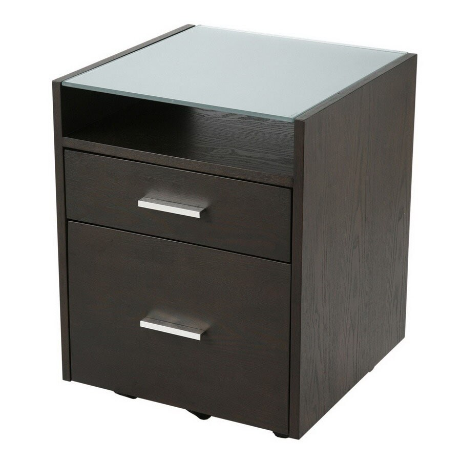 Shop Eurostyle Ballard Wenge 2 Drawer File Cabinet At