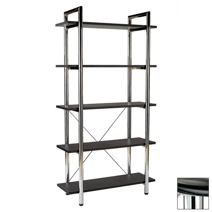 Eurostyle Laurence Black 68-in 5-Shelf Bookcase
