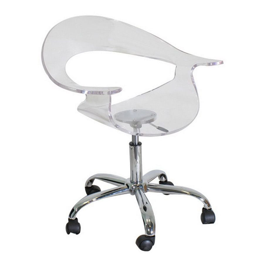Lumisource Chrome Task Office Chair