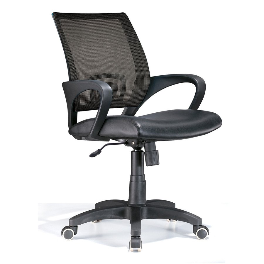 Lumisource Black Leather Executive Office Chair