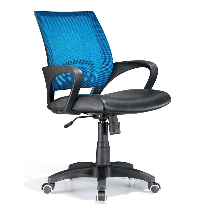 Lumisource Black/Blue Leather Executive Office Chair