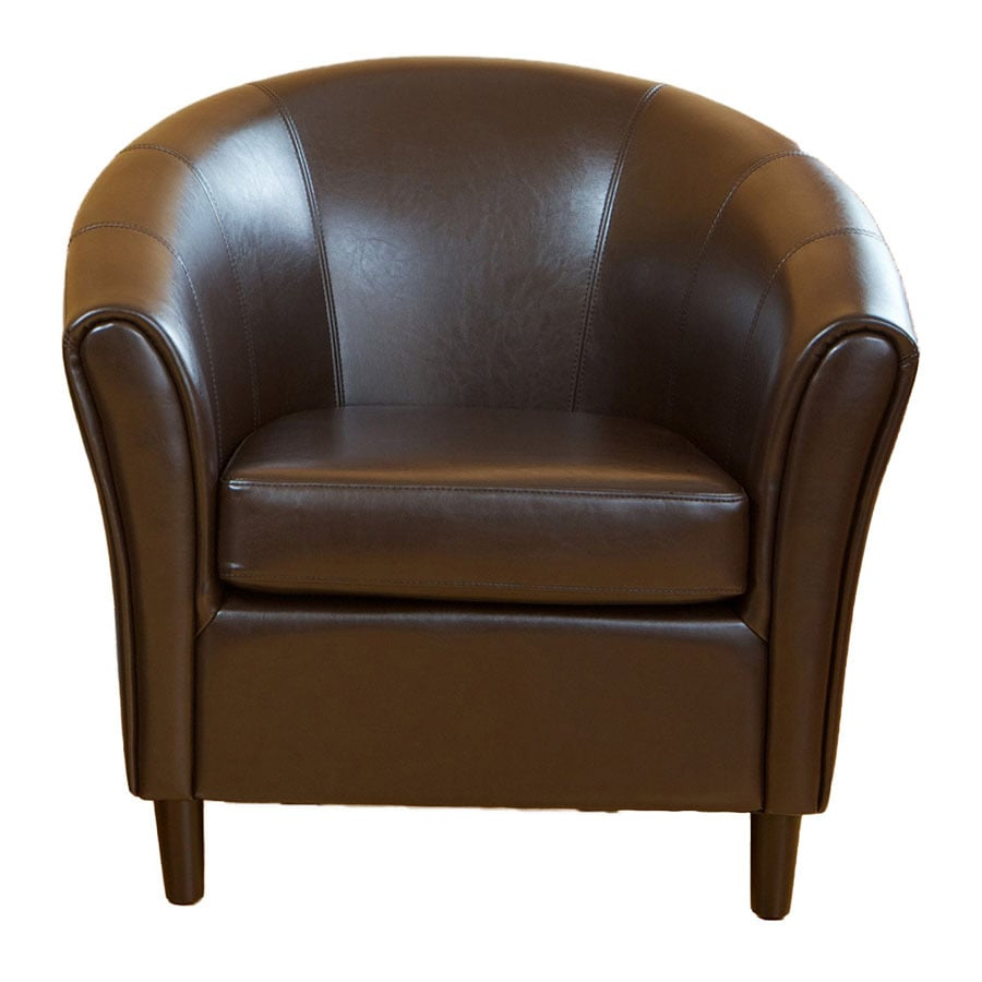 Best Selling Home Decor Napoli Casual Brown Faux Leather Club Chair