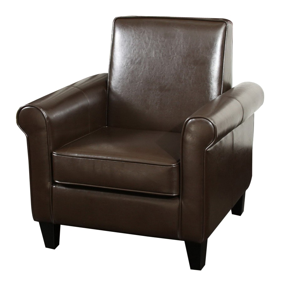 Best Selling Home Decor Freemont Chocolate Bonded Leather Club Chair