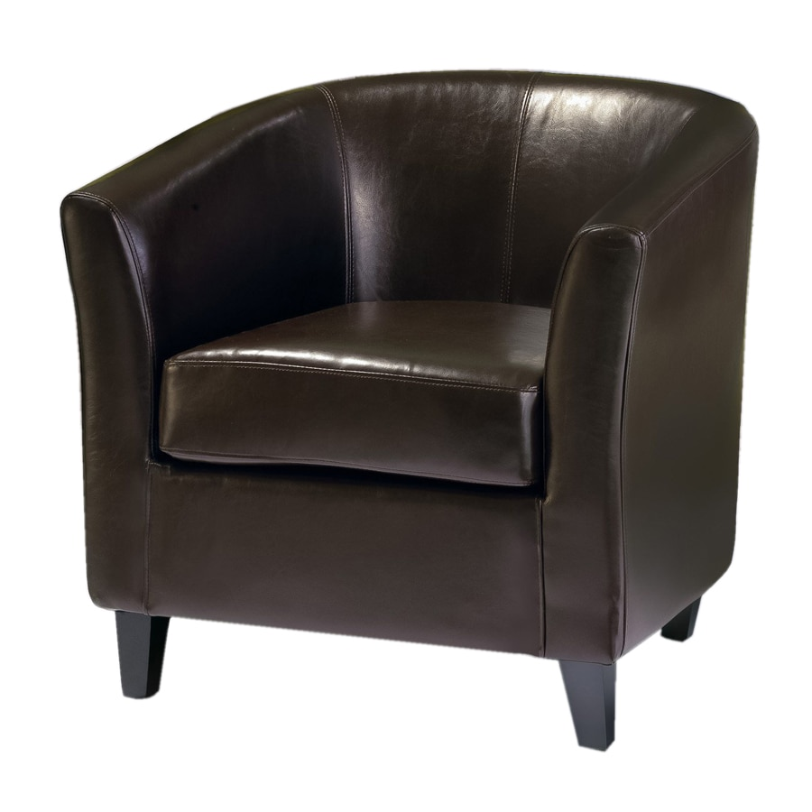 Best Selling Home Decor Preston Brown Faux Leather Club Chair