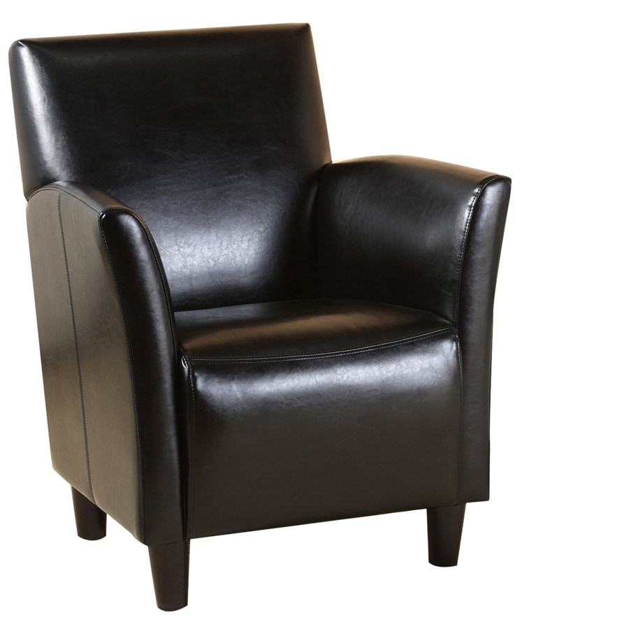 Best Selling Home Decor Francisco Black Bonded Leather Chair