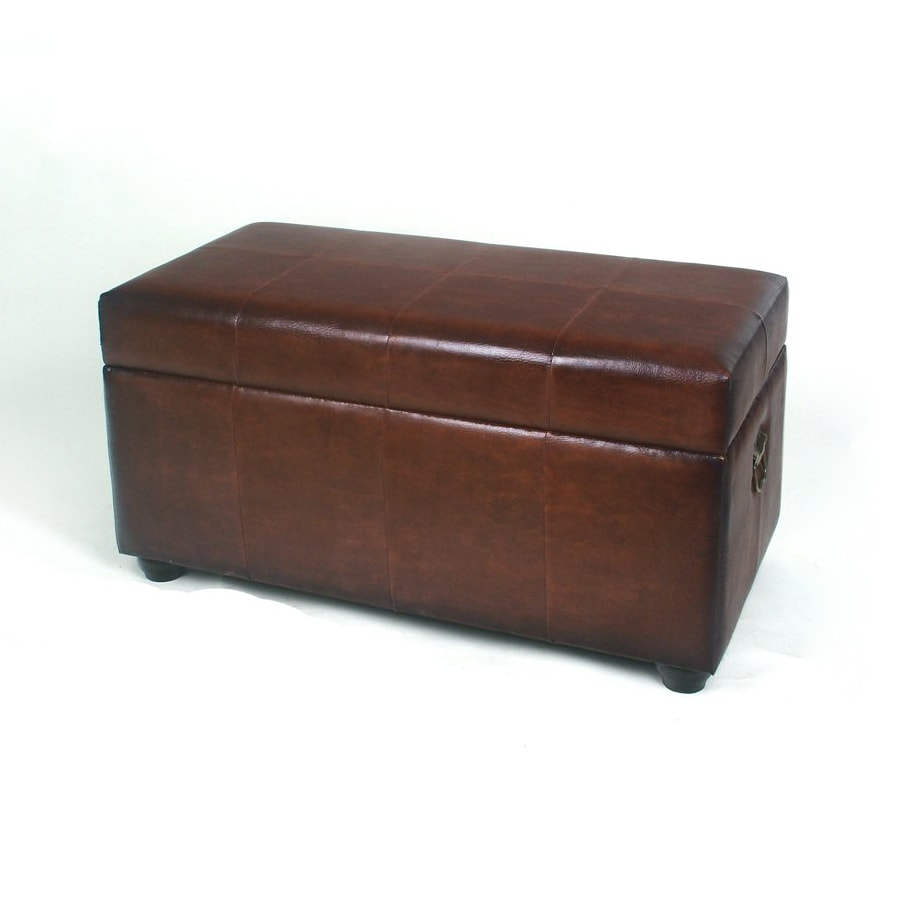 International Caravan Istanbul Brown Rectangle Storage Ottoman