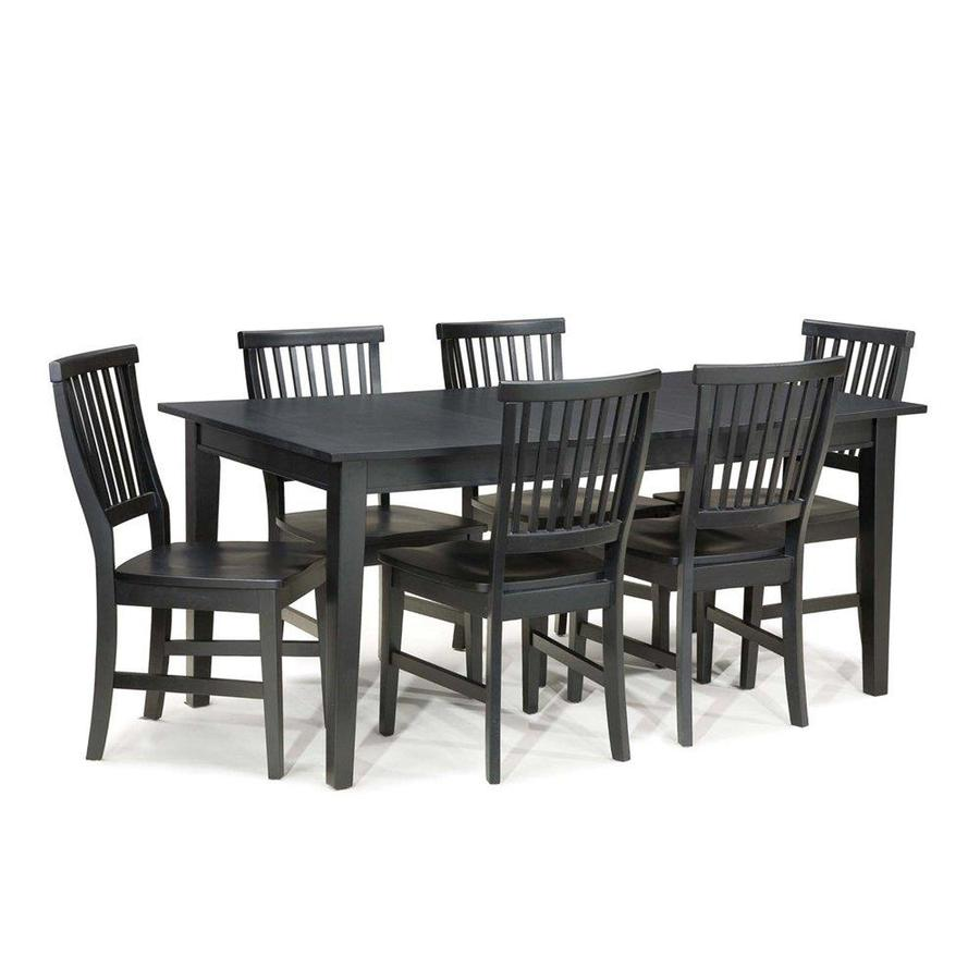 Home Styles Arts & Crafts Ebony Dining Set with Rectangular Dining Table