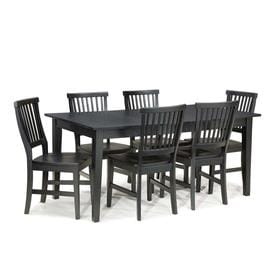 Home Styles Arts U0026 Crafts Ebony 7 Piece Dining Set With Dining Table