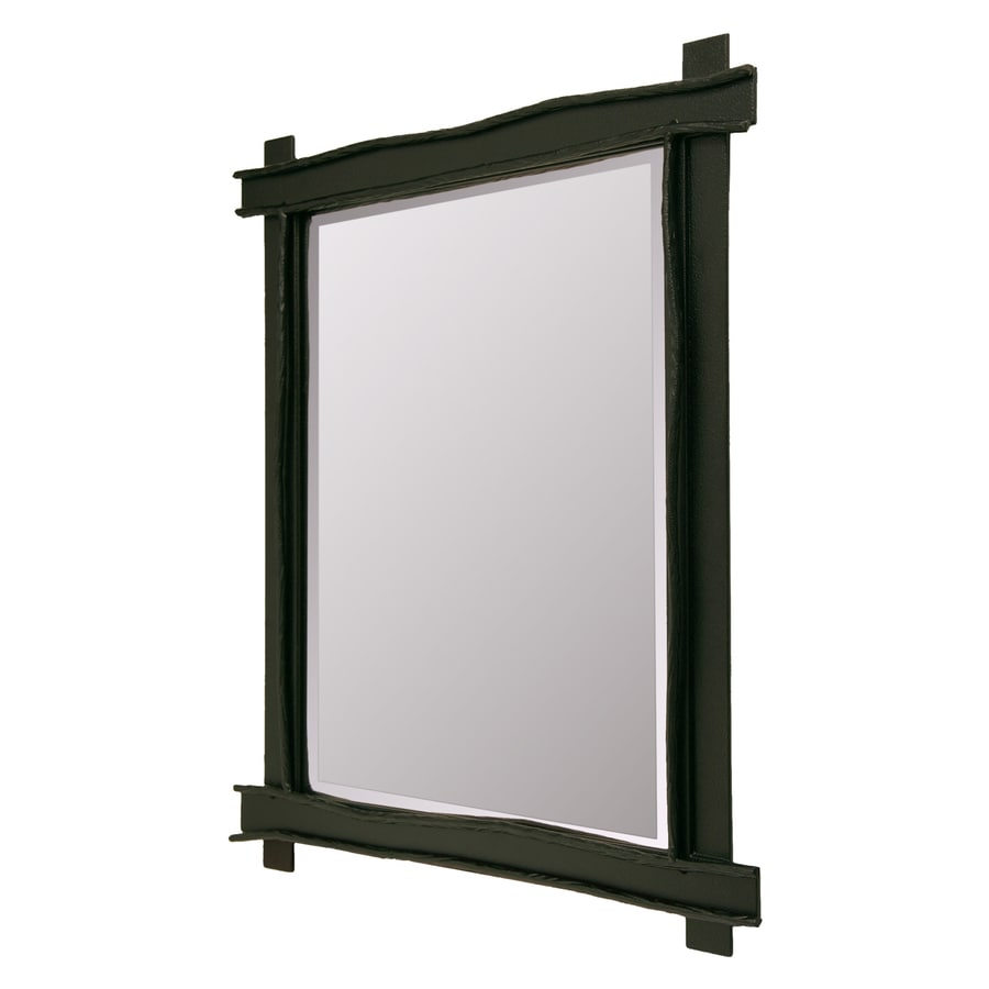 Steel Partners Bundle of Sticks Black Beveled Wall Mirror
