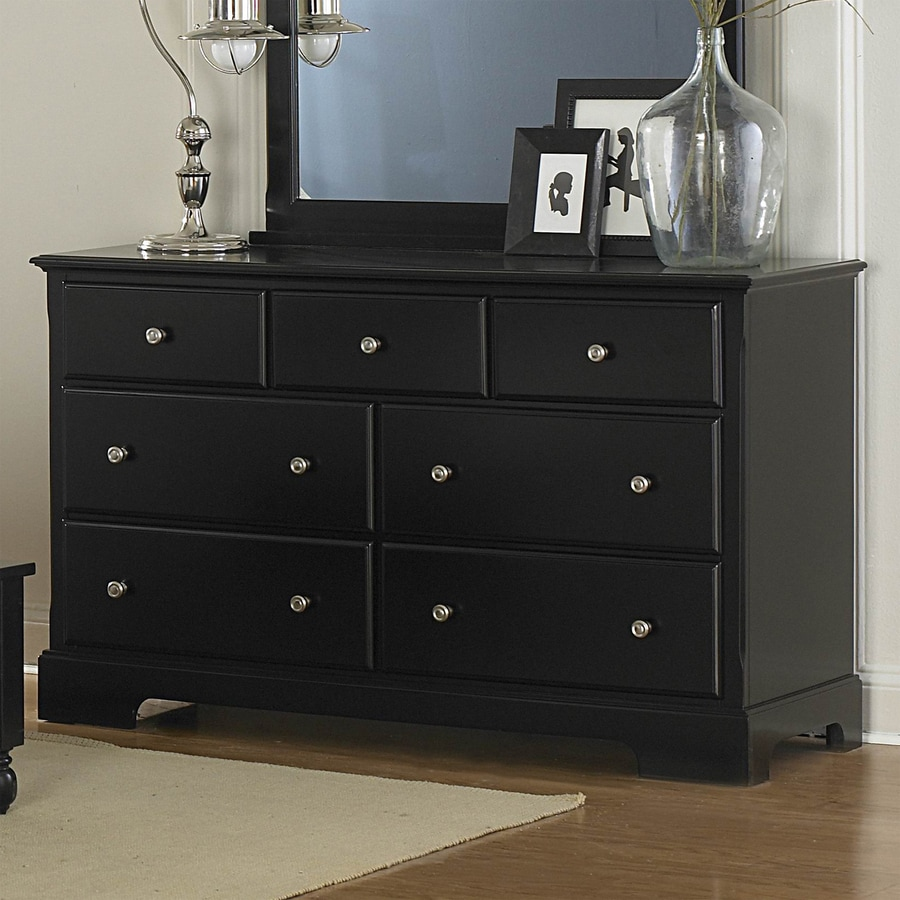 shop homelegance morelle black 7 drawer dresser at