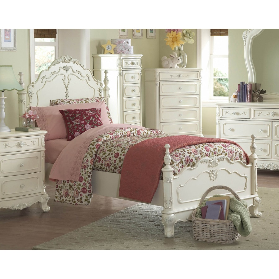 Homelegance Cinderella Ecru Queen Bed Frame