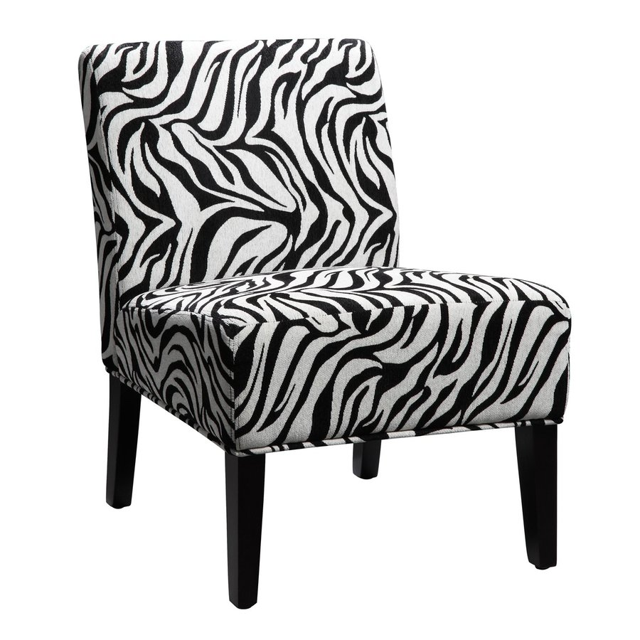 Shop Homelegance Lifestyle Wild Zebra Accent Chair At Lowes Com