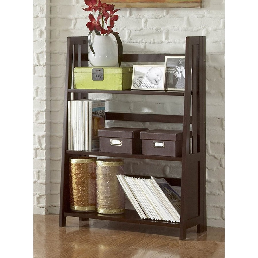 Homelegance Britanica Espresso 28-in W x 42-in H x 13-in D 3-Shelf Bookcase
