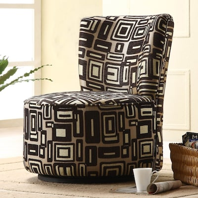 Magnificent Homelegance Easton Brown Geometric Pattern Accent Chair At Gmtry Best Dining Table And Chair Ideas Images Gmtryco
