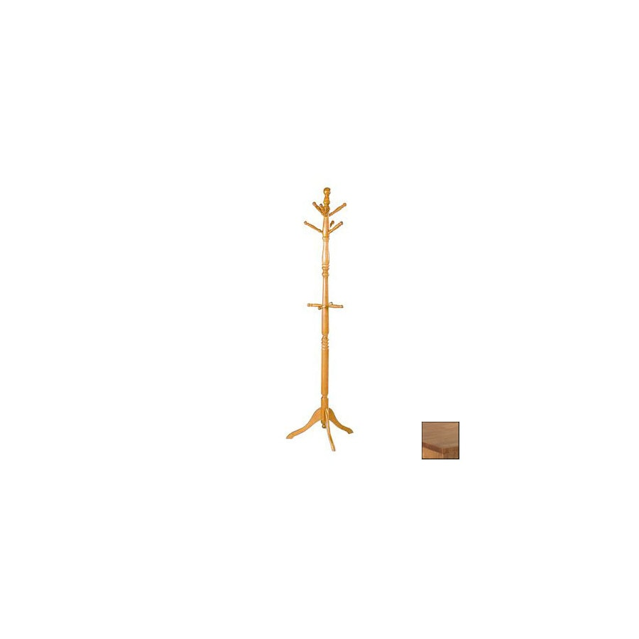 Homelegance Hall Tree Oak 10-Hook Coat Stand