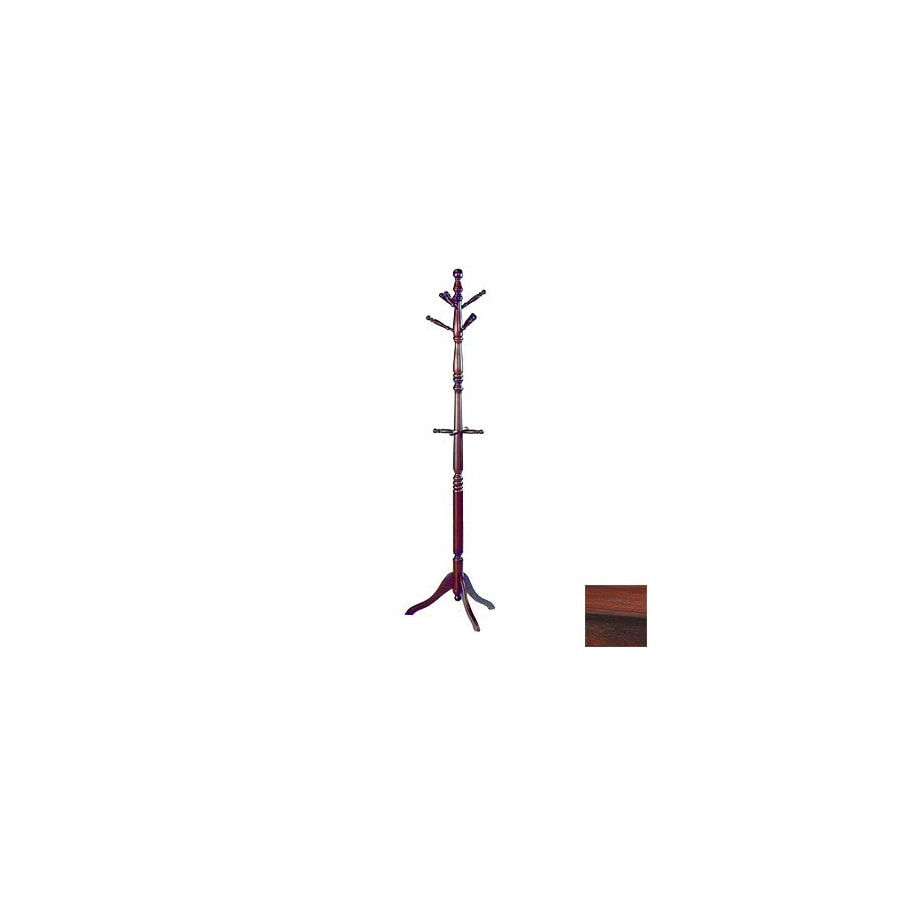 Homelegance Hall Tree Cherry 10-Hook Coat Stand