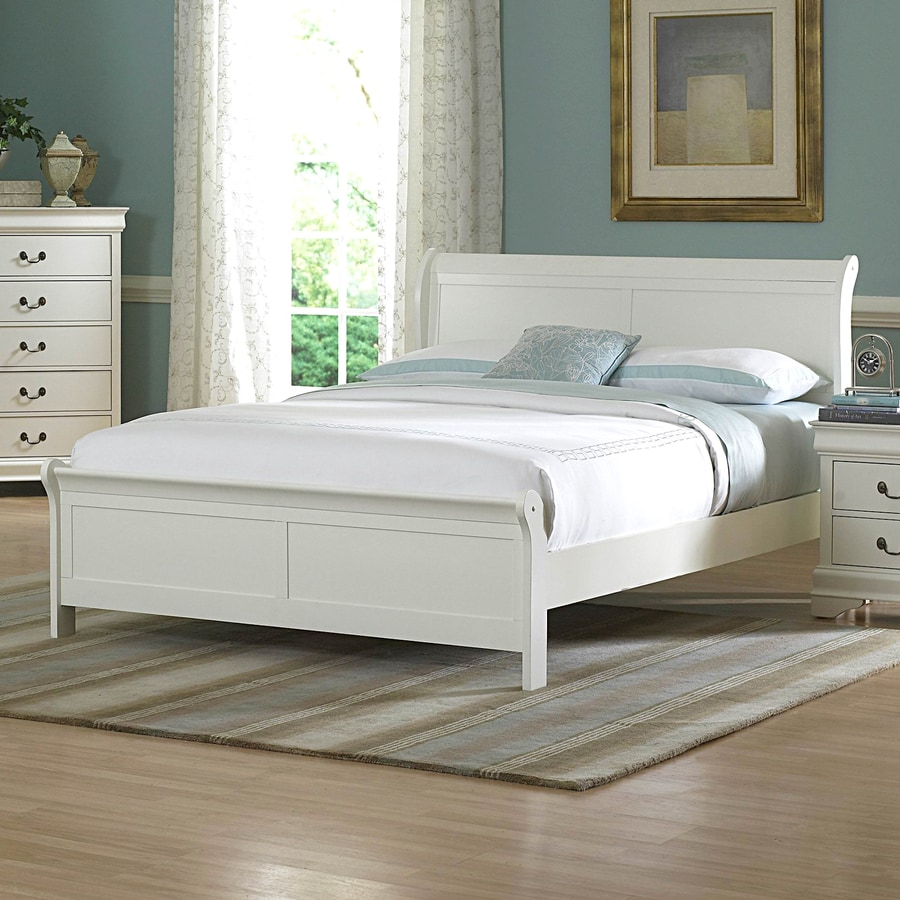 Homelegance Marianne White Queen Sleigh Bed. Shop Homelegance Marianne White Queen Sleigh Bed at Lowes com