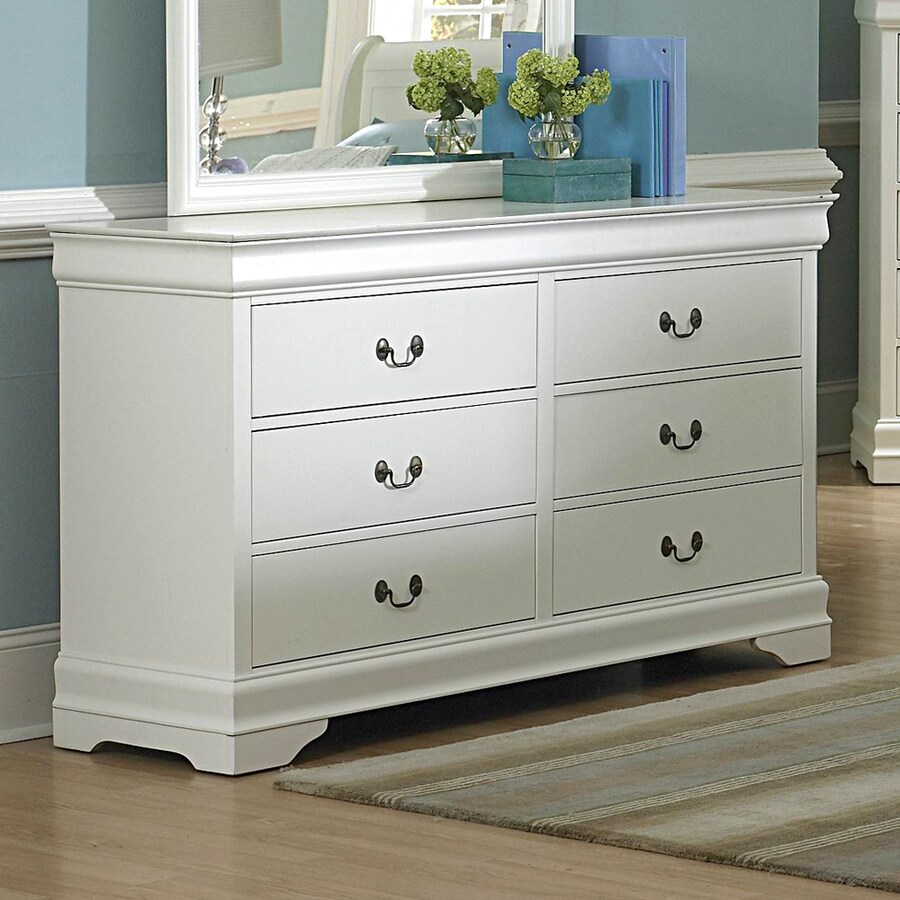 Homelegance Marianne White 6-Drawer Dresser