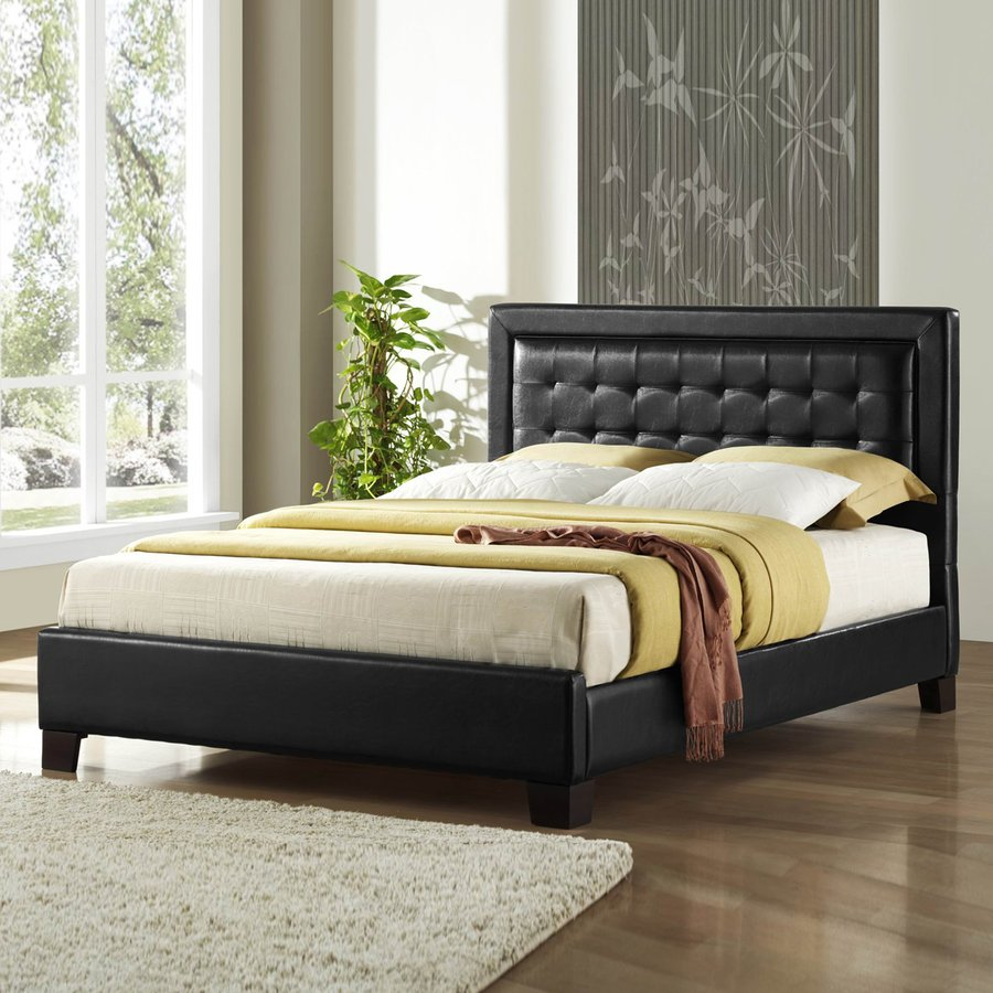 Homelegance Landon Black King Upholstered Bed