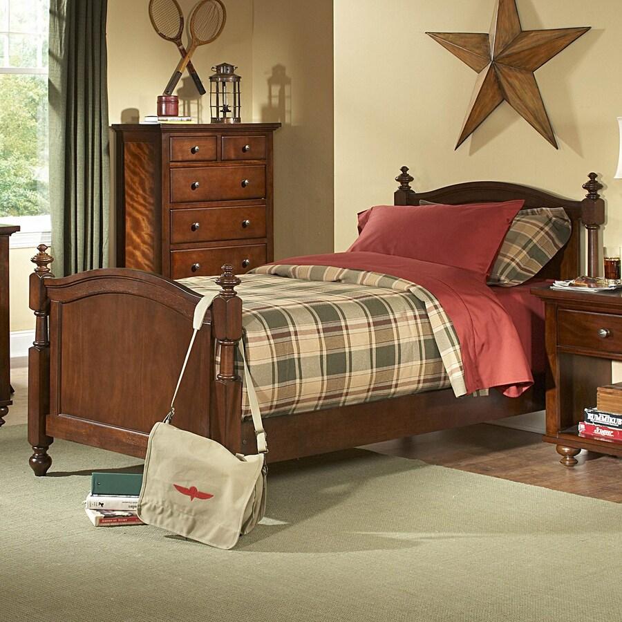 Homelegance Aris Brown Cherry Twin Panel Bed