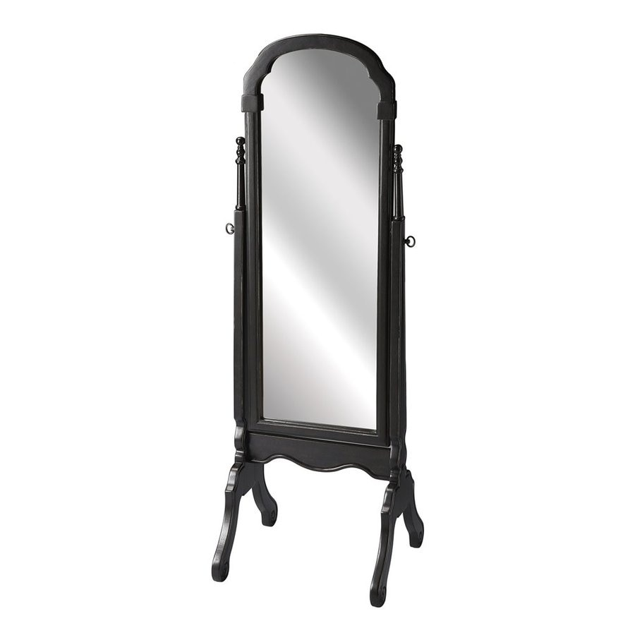 Butler Specialty Masterpiece 19-in x 60-in Brushed Sable Arch Framed French Floor Mirror
